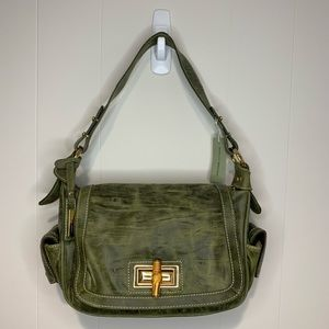 Adrienne Vittadini Handbag Green Leather NWT